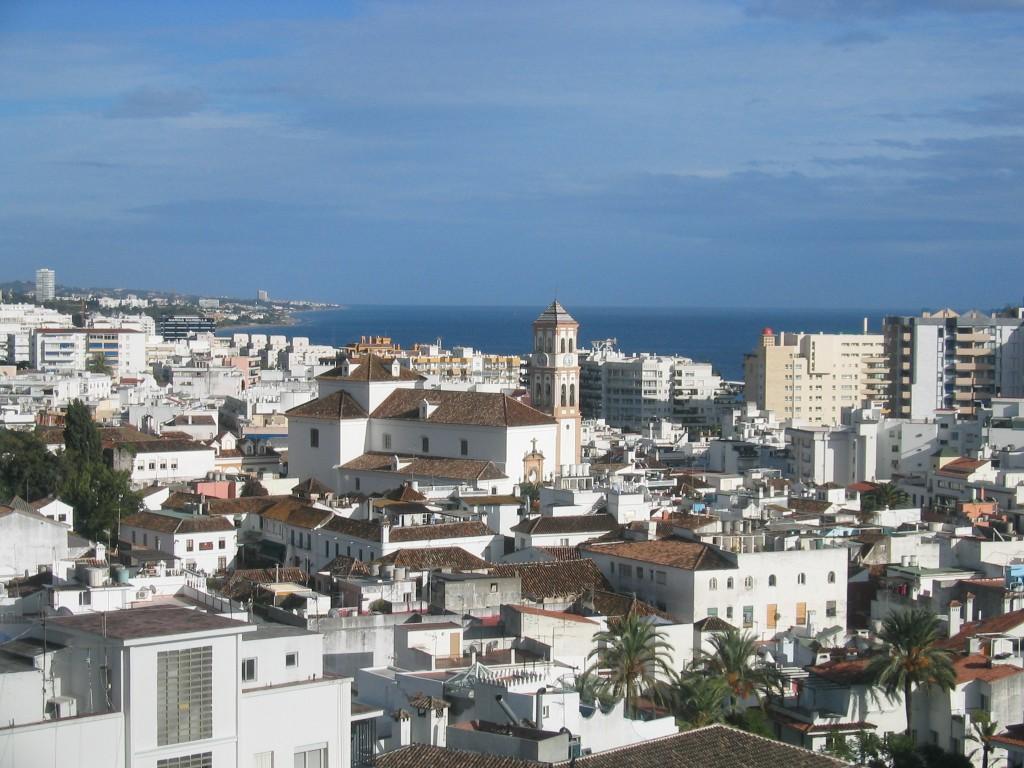 Vy över Marbella